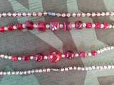 German Red Glass Bead Necklaces