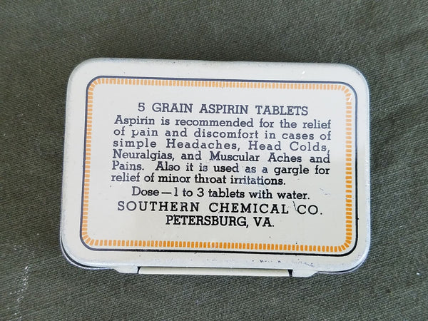 New Old Stock 1930s US. Spartan Aspirin Tin