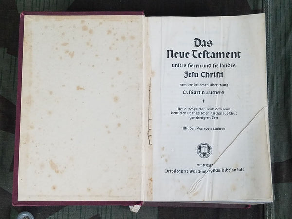 New Testament Bible 1936