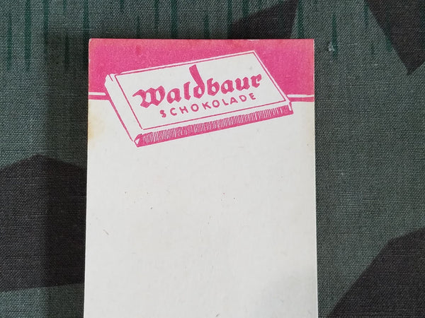 Waldbaur Chocolate Advertising Notepad