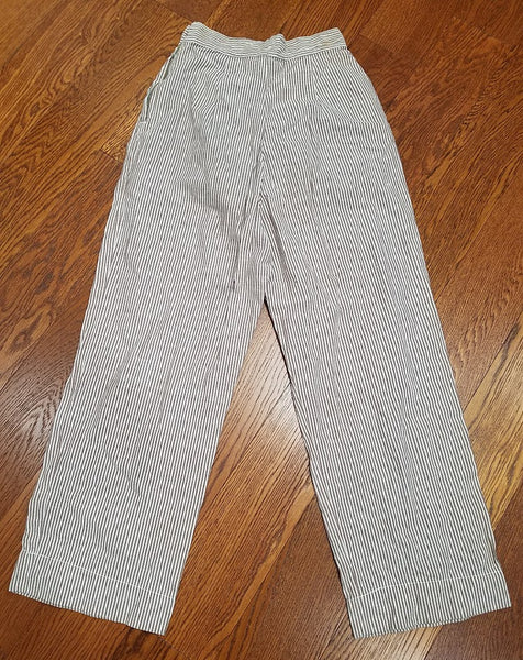 "ANC Army Nurse Seersucker Trousers <br> (W-26"" H-39"")"