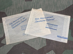 2 Wax Paper Envelopes Walter Behrens