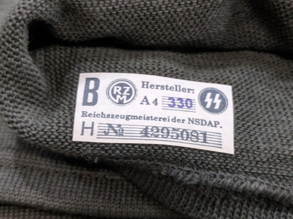 Feldgrau Toque with SS RZM Tag