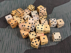 "Pair of Vintage Butterscotch Yellow ""Bakelite"" Dice"