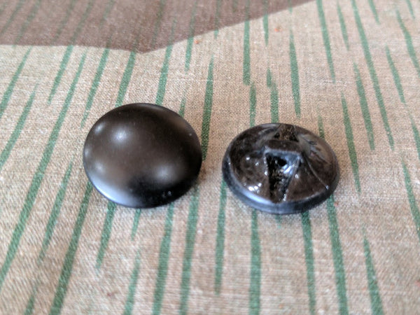 Black Glass Buttons (Set of 5 or 20)