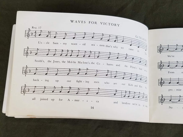 "WAVES Song Booklet ""Navy, Full Speed Ahead!"""