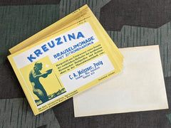 Vintage German Kreuzina Brauslimonade Labels