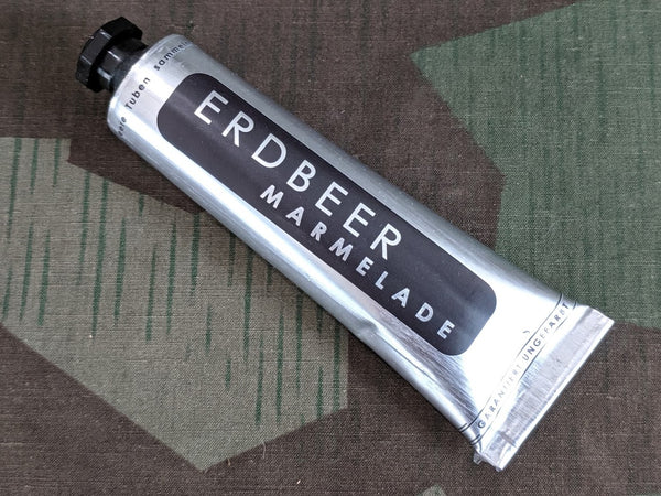 Erdbeer Marmelade Strawberry Jam Tube Ration FULL
