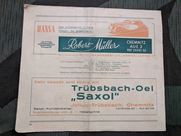 Opel Car Dealership Booklet Kriebstein