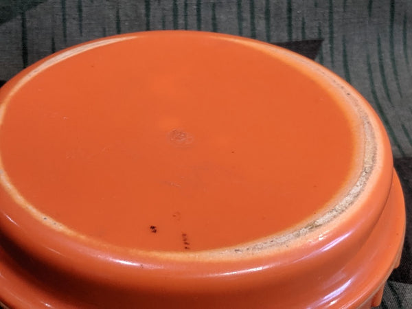 Orange Butter Dish 1/4 Turn