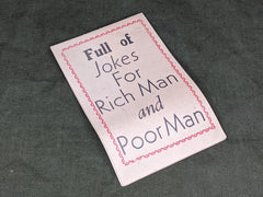"1944 ""Full of Jokes for Rich Man and Poor Man"" Joke Booklet"