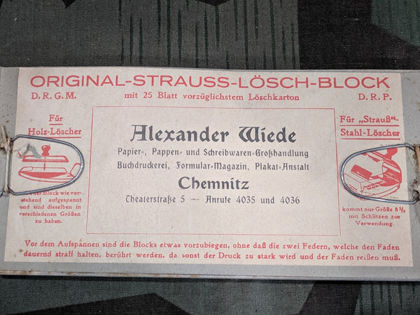 Strauss-Lösch-Block DRGM DRP Blotting Paper Replacement