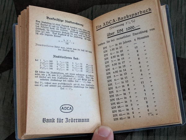 1935 ADCA Pocket Calendar Book