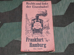 Vintage 1920s / 1930s German Eisenbahn Train Trip Guide Frankfurt to Hamburg