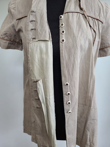 "Brown Maternity Blouse <br> (B-37"" W-41"")"