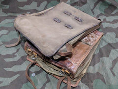 WWI / WWII German Improvised Saddle Bag Set From Tornisters