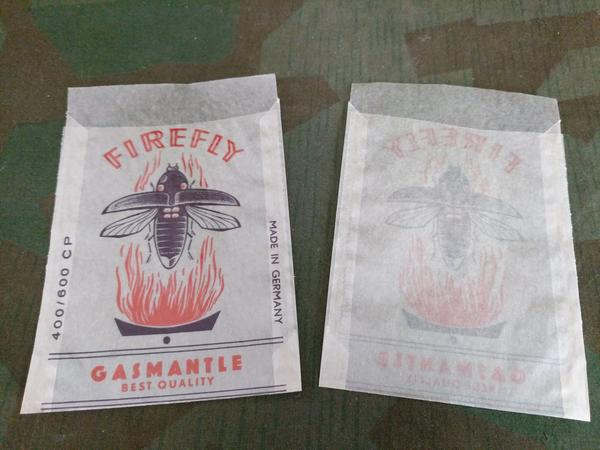 Firefly Gasmantle Lantern Parts Sales Bag