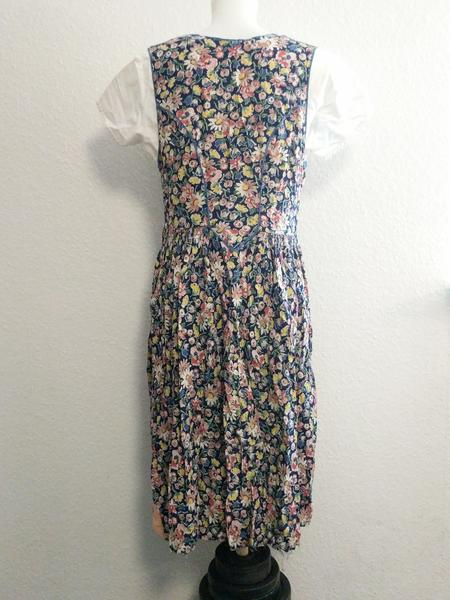 "German Sleeveless Flower Dress and White Undershirt <br> (B-39"" W-31"" H-48"")"