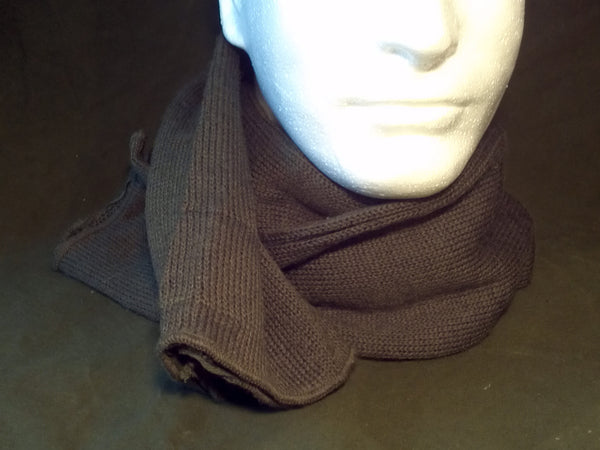 Army Surplus GI Scarf Post War WWII US Reenactor Wool Knit