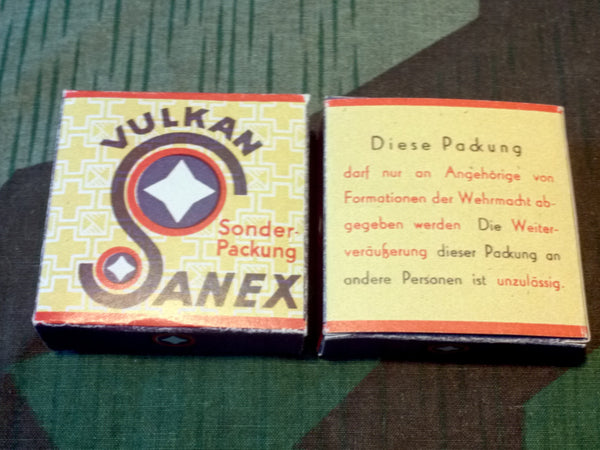 Reproduction Wehrmacht Condoms Vulkan Sanex