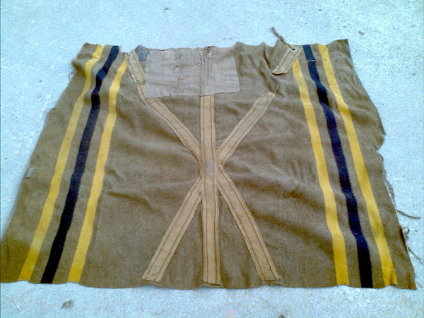 Original Horse Blanket Blue and Yellow