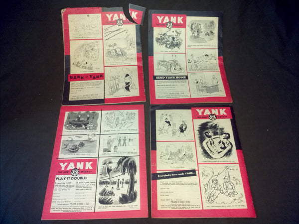 4 Yank Magazines - Featuring Nurses and WACs