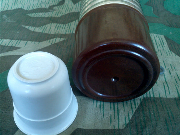 German Thermos with Bakelite Cup and Bottom