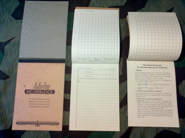 German Meldeblock Message Report Book