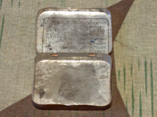 Original Herold Salon Gramophone Needle Tin