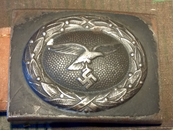 Luftwaffe Belt Buckle 1940 with Leather Tab