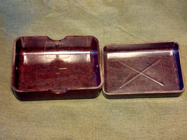 Original Bakelite Soap Dish with Carving