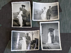 Lot of 4 Soldier's Wedding Photos
