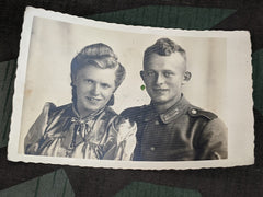 Original Picture Postcard Soldier and Wife