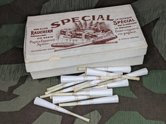 Original Partial Box of Paper Cigar Tips