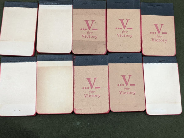 V for Victory Tiny Notebook