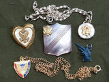 Lot of 1940s US WWII Army Sweetheart Homefront Jewelry Pieces