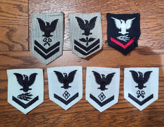 Lot of 7 WWII US Navy WAVES Women's Uniform Patches