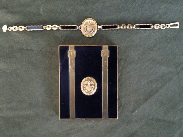 Matching WWII US Navy Sweetheart Compact & Bracelet