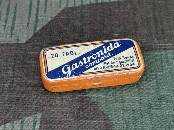 WWII German Gastronida Pill Tin DRWZ