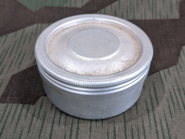 Vintage German Glass Lined Aluminum Container