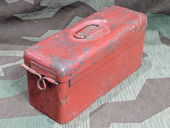 Original Late WWII German Red Vehicle Spare Parts Box