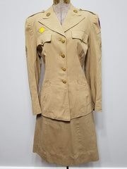 Original US WWII WAC Women's Army Khaki Tan Uniform: Jacket & Skirt