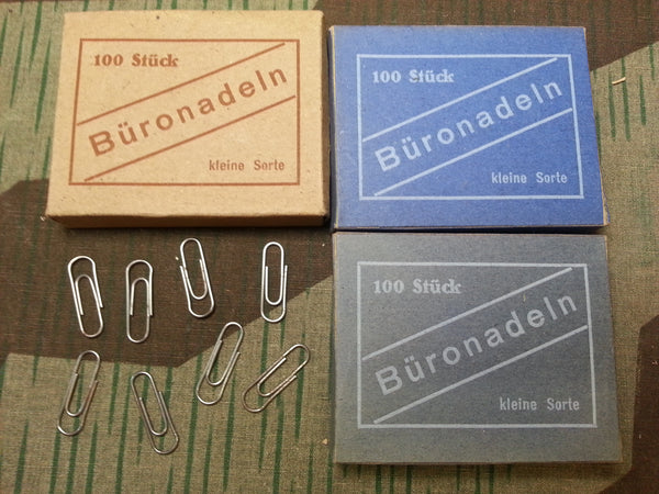 Original WWII-era German Büronadeln Paperclips