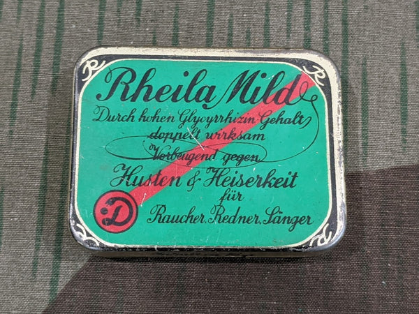 Original WWII-era German Rheila Mild Cough Drops Tin
