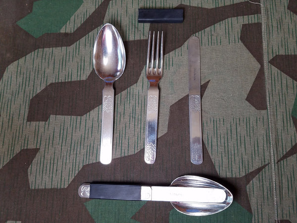 Original WWII German Aluminum Camping Utensil Set Solingen