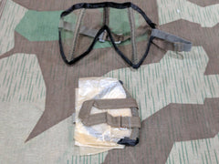 Original WWII German Clear Dust Goggles