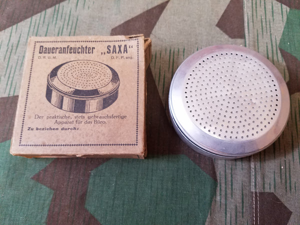 Original WWII German DRGM Finger/Stamp Moistener in Box SAXA