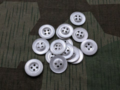 Original WWII German Dished Aluminum 21mm Buttons