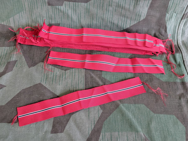 Original WWII German Eastern Front Ostmedaille Ribbon 7.5 Inch Piece