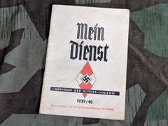 Original WWII German HJ Day Planner 1939/1940